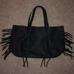 Mossimo Supply Co. Bags - Mossimo Black Fringe Tote